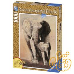 پازل elephant family 19002