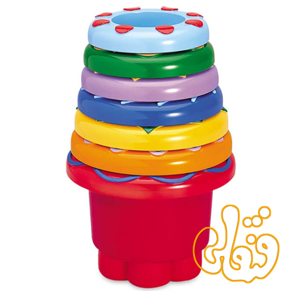لیوانهای رنگین کمان تولو rainbow stacker 89650