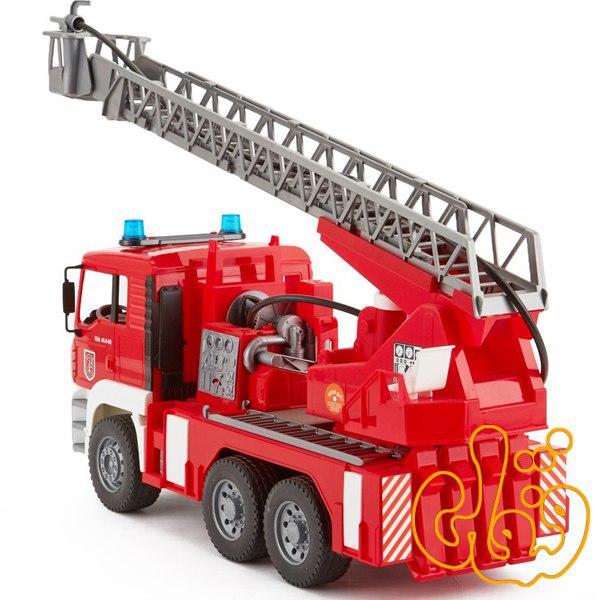 MAN TGA Feuerwehr m.Drehleiter Wasserp, Light & Sound Module 02771