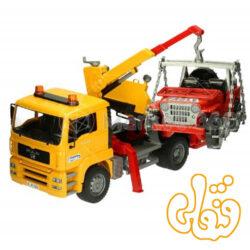 MAN TGA Abschlepp-LKW mit Geländewagen 02750