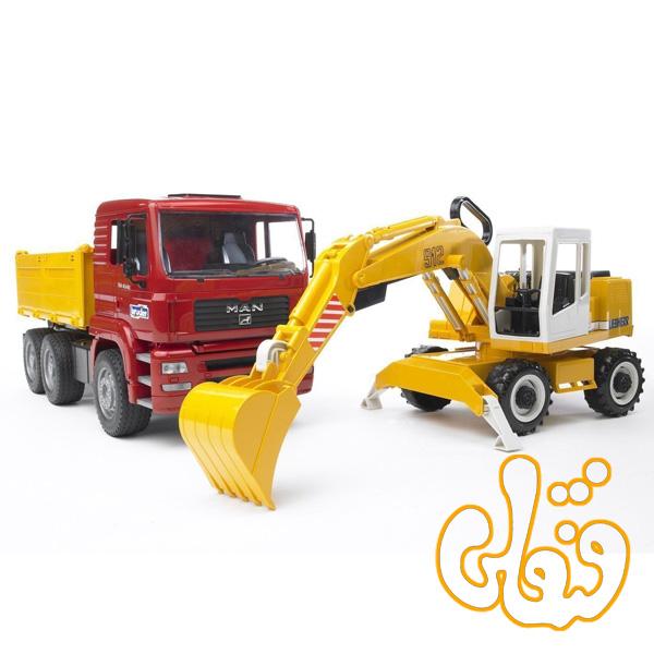MAN TGA Kipp-LKW und Liebherr Schaufelbagger 02751