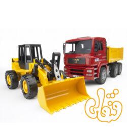 MAN TGA Kipp-LKW und Gelenkradlader FR 130 02752