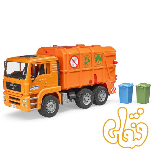 MAN TGA Garbage truck orange 02760