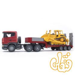 MACK Granite Low loader truck with JCB 4CX Backhoe loader 02813