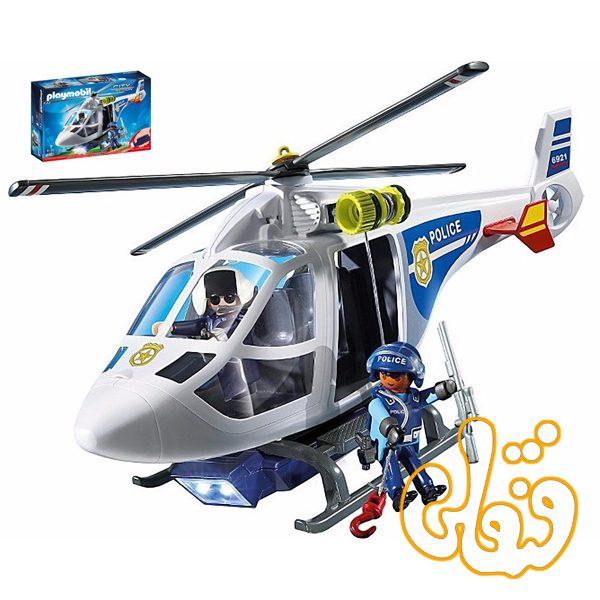 هلی کوپتر پلیس همراه چراغ قوه Police Helicopter with LED Searchlight 6921