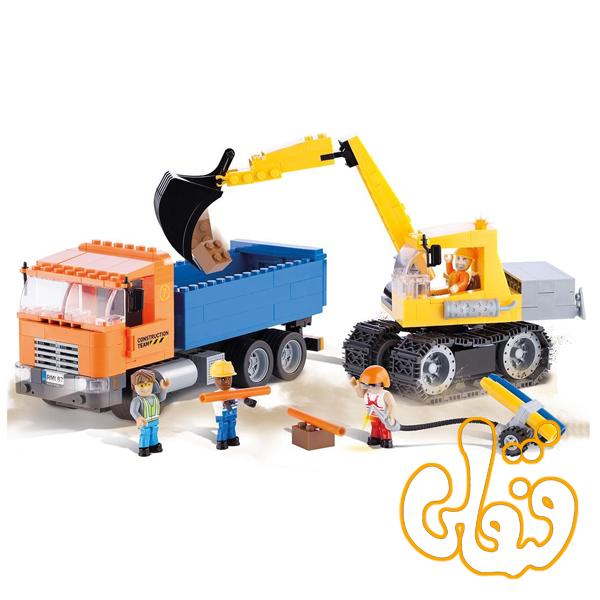 کمپرسی و بیل مکانیکی Dump Truck and Excavator 1667