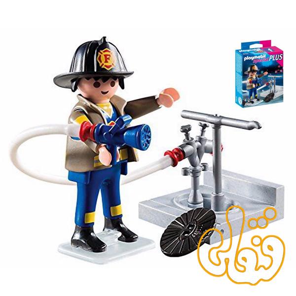 پلی موبیل Fireman with Hydrant 4795