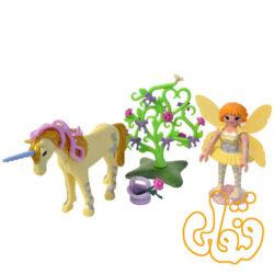 پلی موبیل اسب تک شاخ Flower Fairy with Unicorn Sun Beam 5442