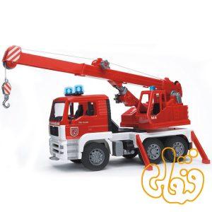 ماشین جرثقیل آتش نشانی MAN TGA Feuerwehr Kran-LKW mit mit Light & Sound Module 02770