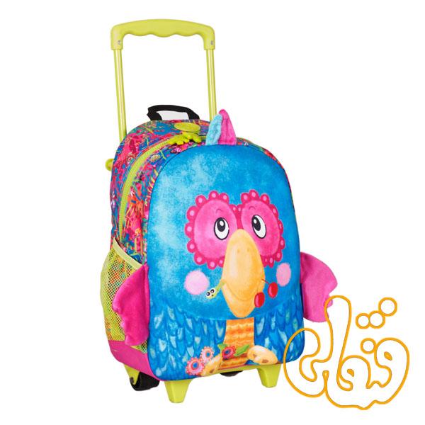 کیف مدرسه چرخدار طوطی 86015