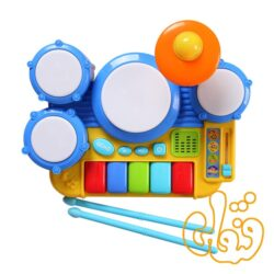 جاز درام موزیکال Boppin' Beats Drum Set Keyboard 2034