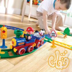قطار 17 ریل با علایم راهنمایی Deluxe Train Set 89761