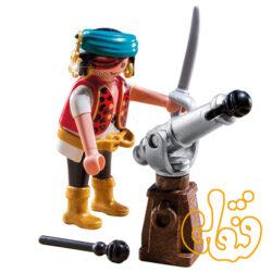 پلی موبیل دزد دریایی Pirate with Cannon 5378