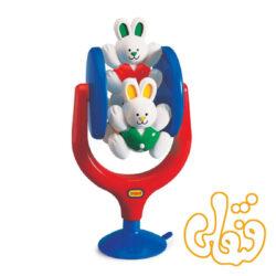 خرگوش چرخشی صندلی غذای کودک Spinning Highchair Activity 89121