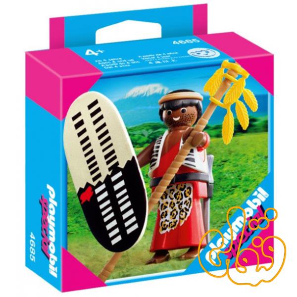 زولو جنگجو پلی موبیل Playmobil Zulu Warrior 4685