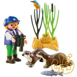 سمور دریایی با جوان کاوشگر پلی موبیل Young Explorer with Otters 5376