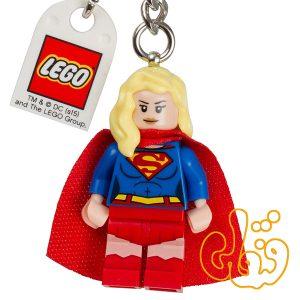لگو ساختنی آویز کلید سوپرومن Supergirl Keychain 853455