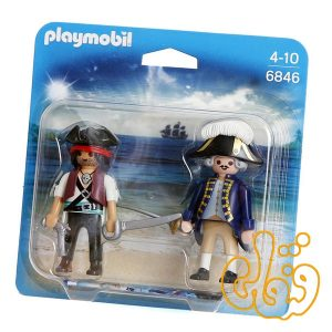 دزد دریایی و سرباز پلی موبیل Pirate and Soldier Duo Pack 6846