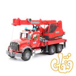 ماشین جرثقیل امداد ماک برودر MACK Granite Crane Truck With Lights And Sound Module 02826