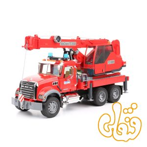 ماشین جرثقیل امداد ماک برودر MACK Granite Crane Truck With Lights And Sound Module 02826