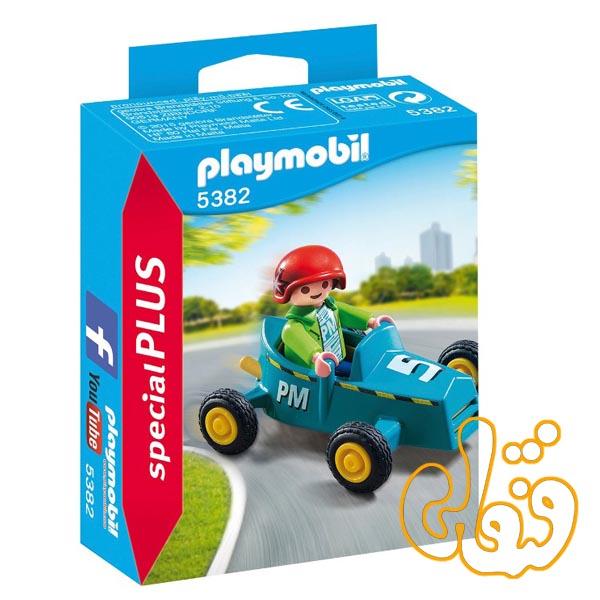 پسر با ماشین پلی موبیل Boy with Go Kart 5382