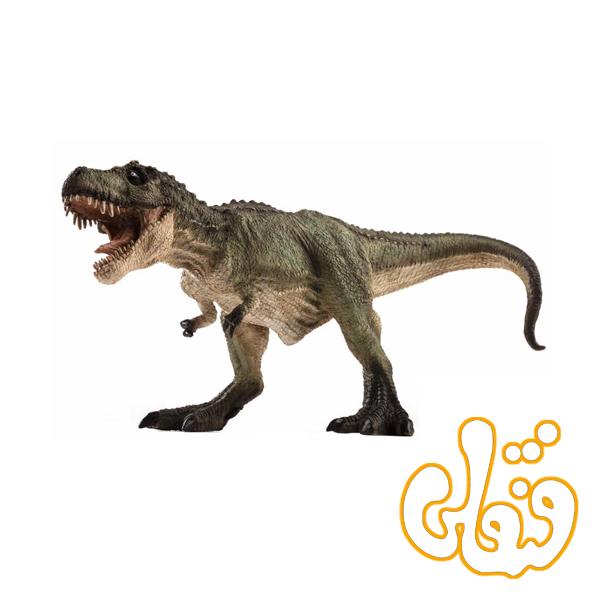 دایناسور رکس تیرانوسار شکارچی سبز Tyrannosaurus Rex Hunting green 387293
