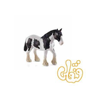 اسب اسکاتلندی سفید و سیاه Clydesdale Horse Black & White 387085
