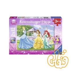 پازل رونزبرگر پرنسسها در باغ و قصر Princesses in garden and castle 07555