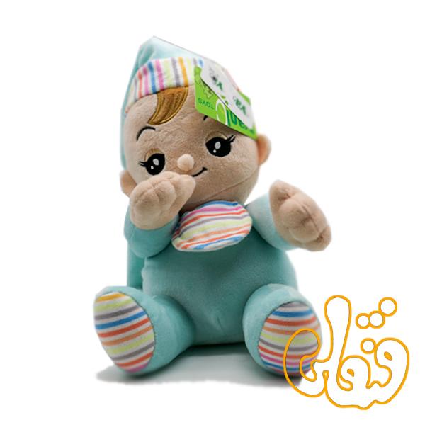 عروسک موزیکال پسر انگشت به دهان 100106A