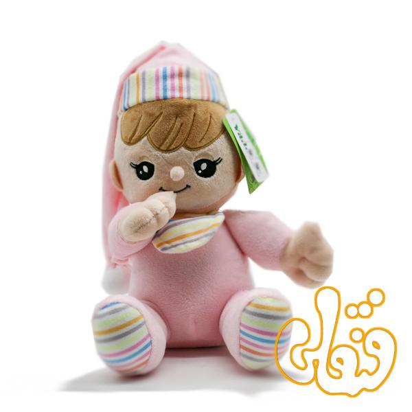 عروسک موزیکال دختر انگشت به دهان 100106B