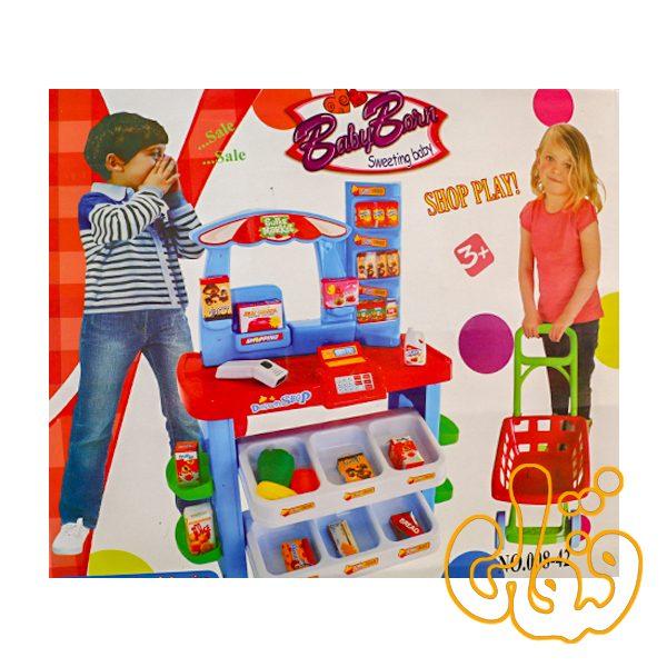 سوپر مارکت با چرخ خرید 008-42