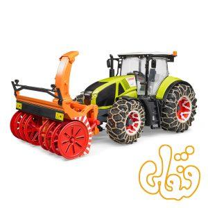 ماشین تراکتور با زنجیرهای برف Claas Axion 950 with Snow Chains and Snow Blower 03017