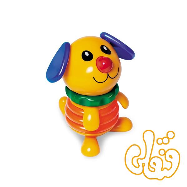 عروسک حیوانات فنری سگ و جوجه تولو 80707