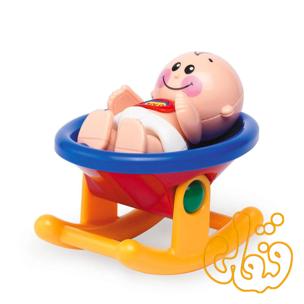 عروسک نوزاد و گهواره تولو Baby and Rocker 89618