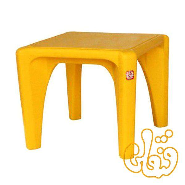 میز مربع کودک استار-زرد