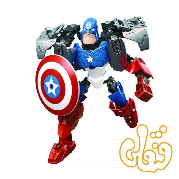 ساختنی لگو کاپیتان آمریکا سری ابرقهرمان AMERICAN CAPTAIN 6006