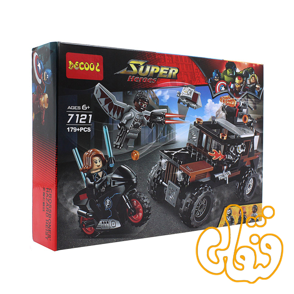 ساختنی لگو ماشین ابرقهرمان 7121
