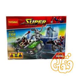 ساختنی لگو اسپایدرمن و ونوم و ماشین 7104