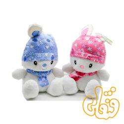 عروسک خرگوش کلاه دار فانتزی 100103