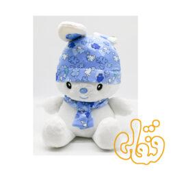 عروسک خرگوش کلاه دار فانتزی 100103-آبی