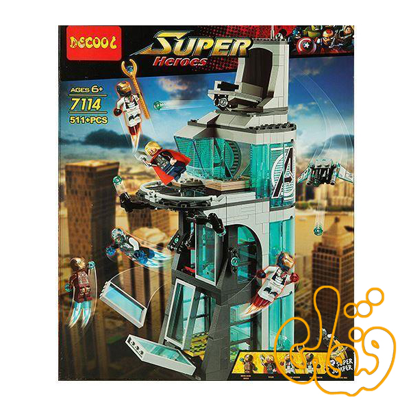 ساختنی لگو برج آیرونمن 7114