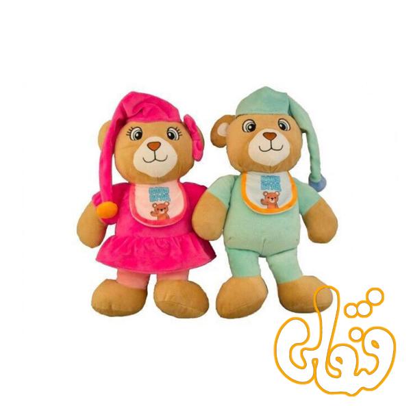 عروسک خرس نوزادی کلاه دار 17610