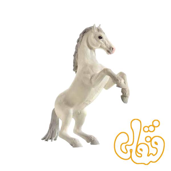 اسب وحشی ایستاده سفید Mustang rearing White 387351