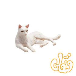 گربه دراز کشیده سفید Cat Lying White 387368