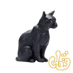 گربه نشسته سیاه Cat Sitting Black 387372