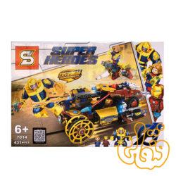 ساختنی لگو تانوس و ماشین آیرونمن 7014