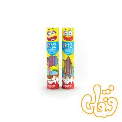 مداد رنگی 12 رنگ استوانه ای آریا 3051