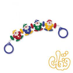 آویز بالای کالسکه دلقک کوچولو تولو Little Clowns Pram toy 87125