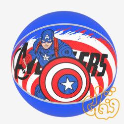 توپ بسکتبال فانتزی طرح کاپیتان امریکا سایز 5 بتا
