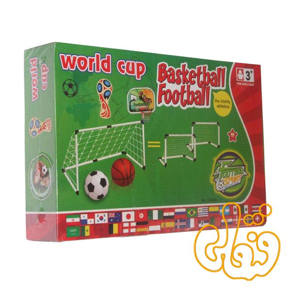 تیر دروازه فوتبال جام جهانی و بسکتبال